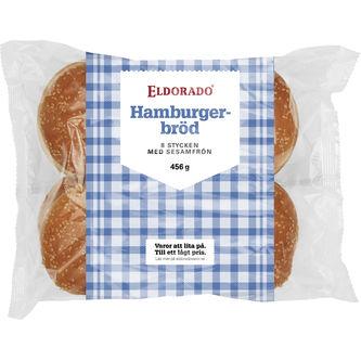 Hamburgerbröd 8-pack - Eldorado 456g